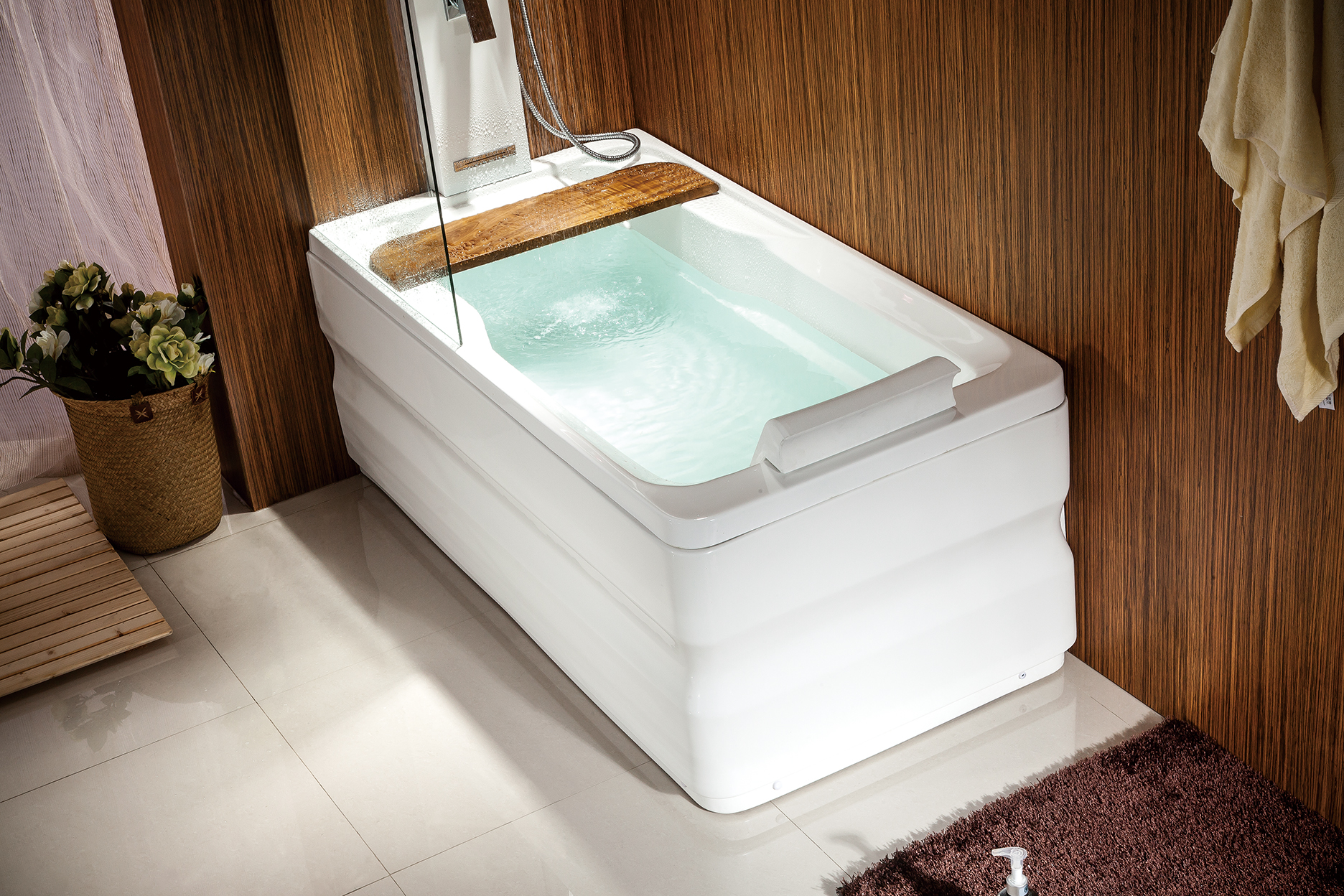 Wanna łazienko Spa Z Hydromasażem I Prysznicem Mo 0062 M